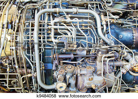 Pictures of Jet engine innards k9484058.