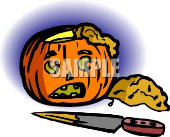 Pumpkin guts clipart.