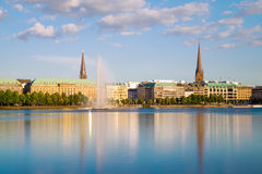 Alster Lake In Hamburg Royalty Free Stock Photos.