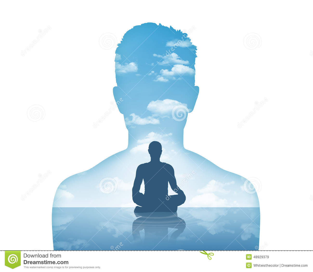 Inner Peace Stock Image.
