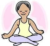 Group Meditation Clip Art.