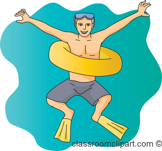 Boy with tube clipart.