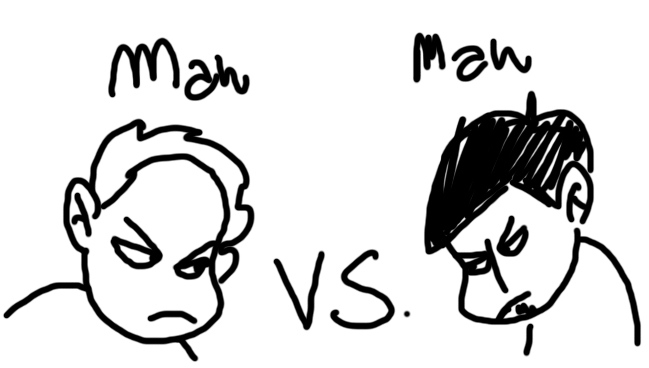 Man vs man conflict clipart.