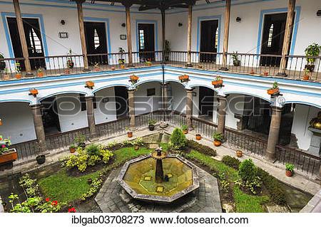 "Stock Photo of ""Inner courtyard, Army General Antonio Jose de."
