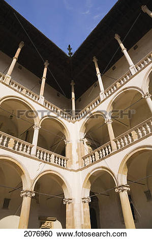 Stock Photography of Building inside the inner courtyard at the.