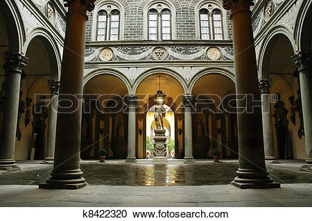 Stock Photography of Inner courtyard of Medici Palace k8422320.