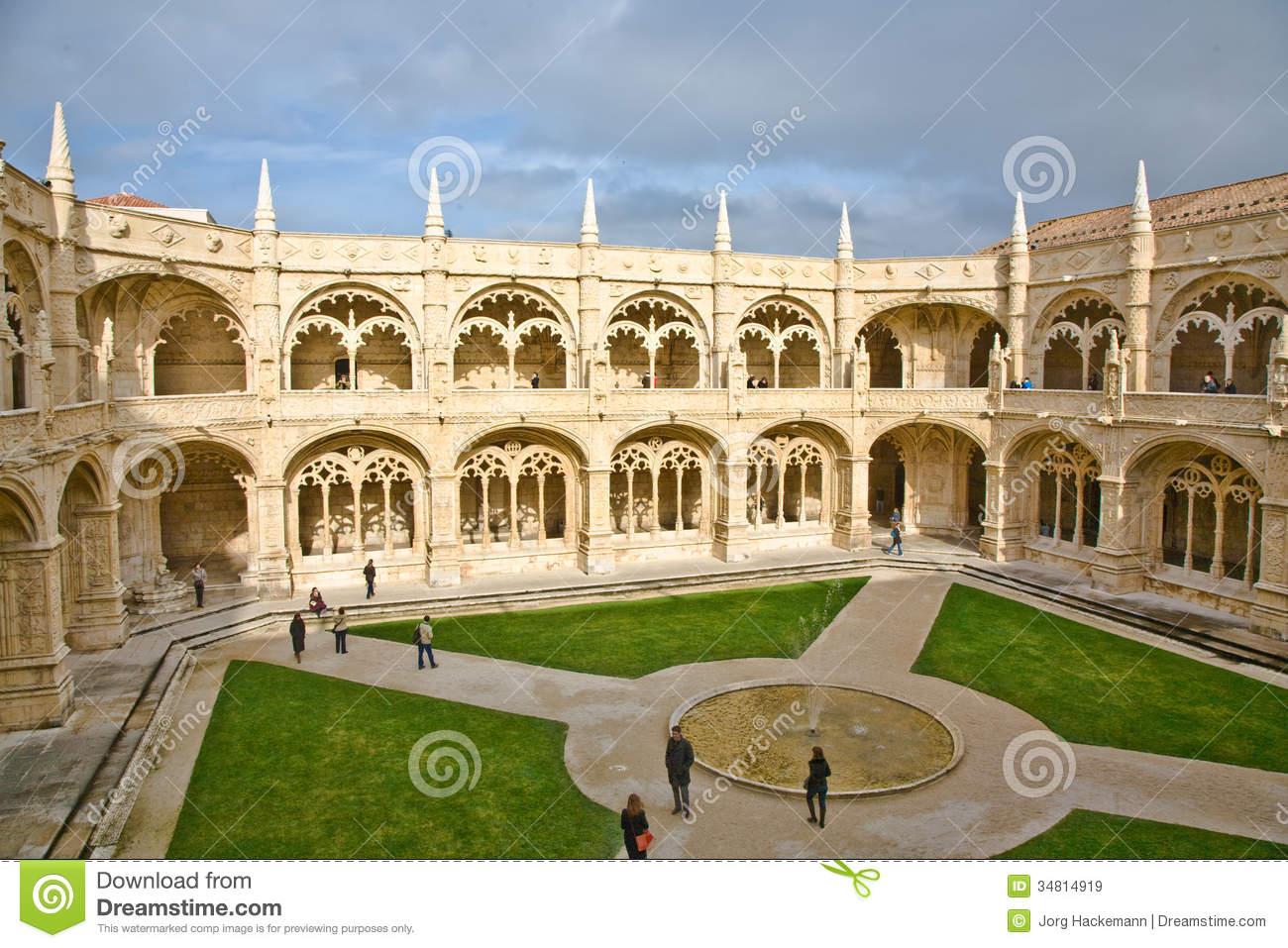 Inner Courtyard Of The Hieronymites Monastery (Mosteiro Dos.
