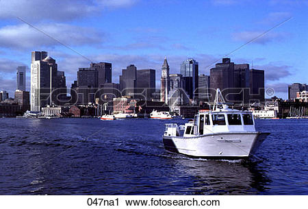 Stock Photography of River Taxi on Inner Harbour Boston 047na1.