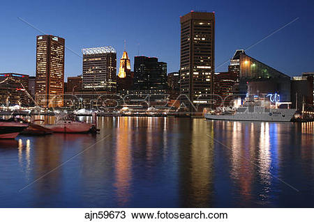 Stock Photo of Baltimore, MD, Maryland, Chesapeake Bay, Downtown.