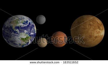 Solar System Cartoon Planets Stock Vector 224497594.