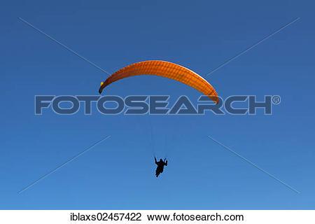 "Stock Photo of ""Paraglider at Mount Ebenalp, Wasserauen, Appenzell."