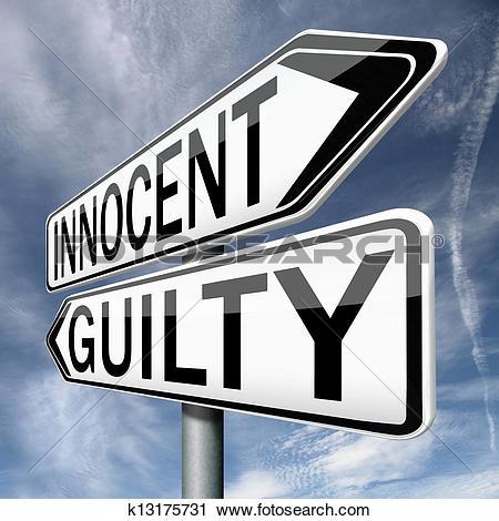 Clipart of innocent guilty k13175731.
