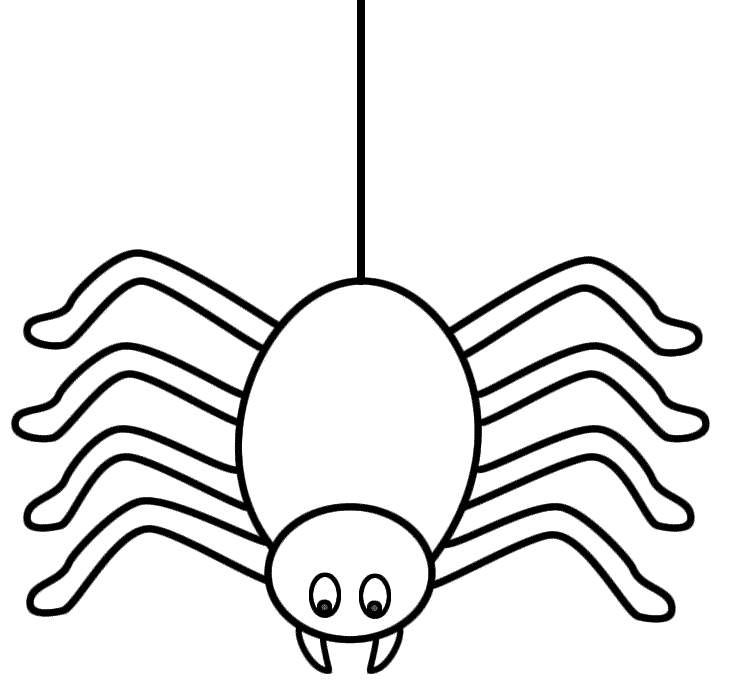 Cute Cartoon Spiders.