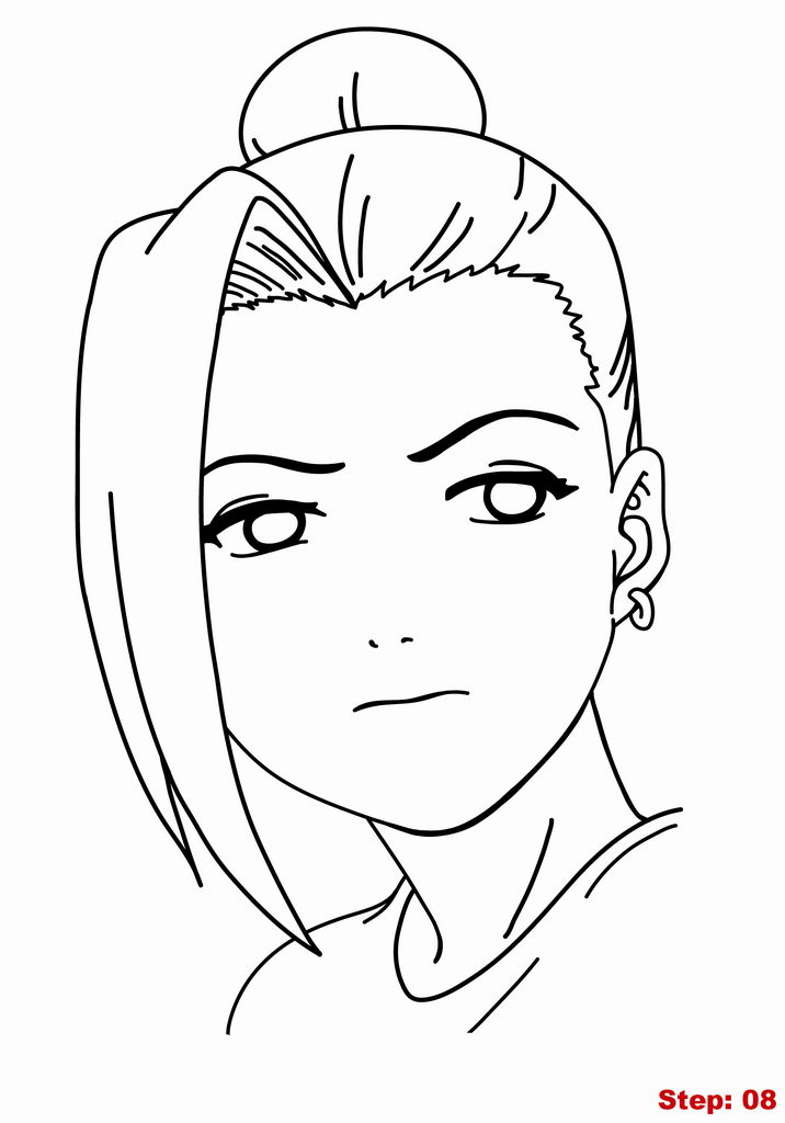 How to Draw Ino from Naruto.