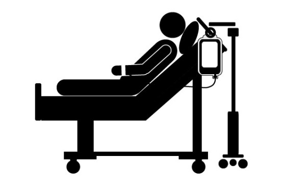 Patient In Bed Clipart.
