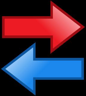 input output arrows.