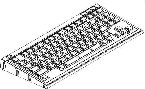 Vector clip art of typing input device.