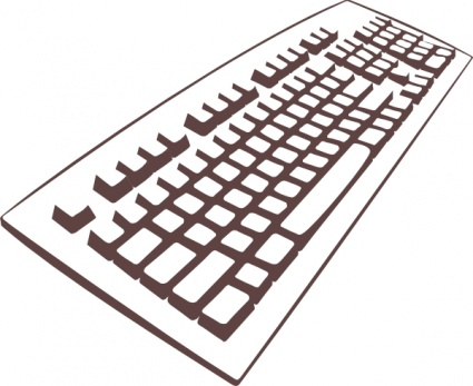 Input devices of computer clipart.