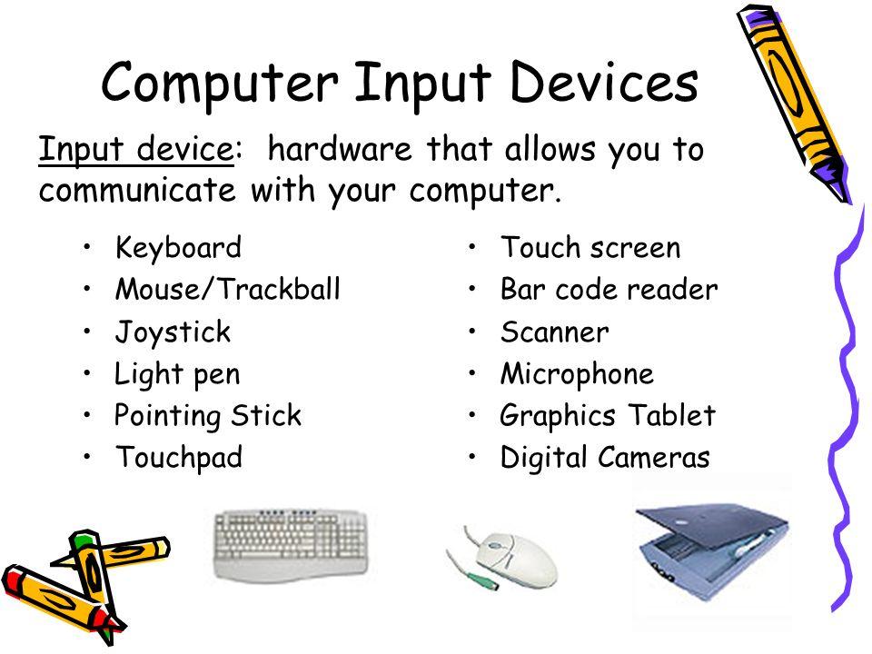 Computer Input Clipart.