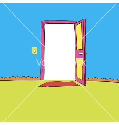 Open the door wide open light output and input vector by zafigachy.