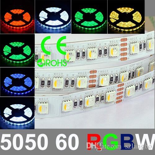 New Type Rgb+W/Ww 5050smd Led Strip Light With Dc12v Input, Multi.