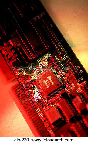 Stock Photography of Input/Output Card in Coloured Light clo.