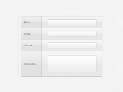 Light Text Input Form, Vectors.