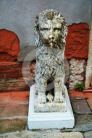 Lion Sculpture Royalty Free Stock Photography.