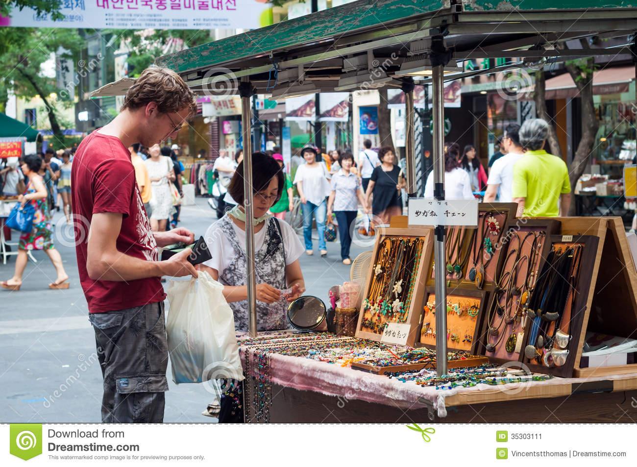 Itaewon Market Editorial Photo.
