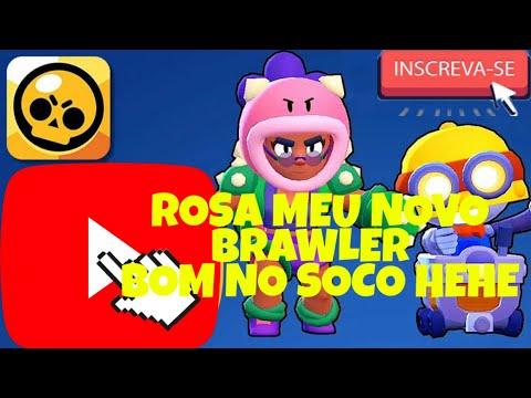 JOGANDO COM MEU NOVO BRAWLER # ROSA // BRAWL STARS.