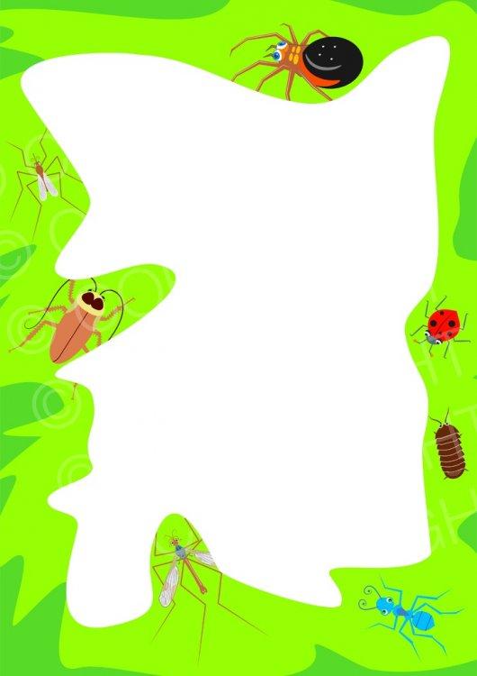 Insect Bug Page Border Prawny Frame Clip Art.