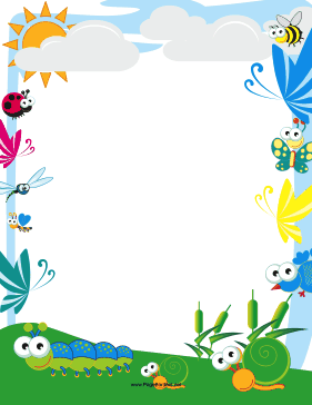 Cute Insect Border page border.
