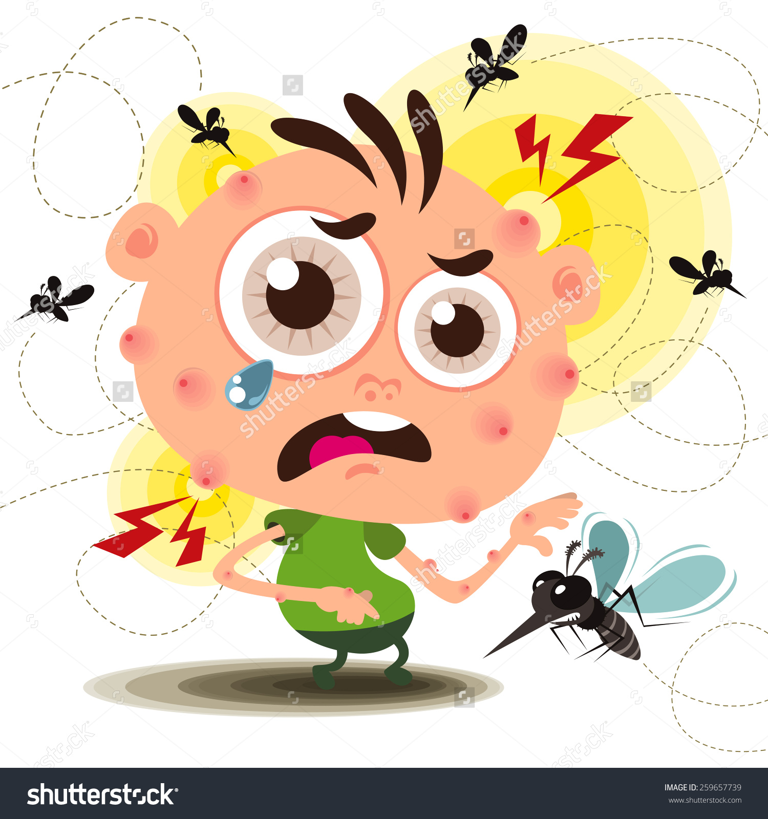 Insect bite clipart.