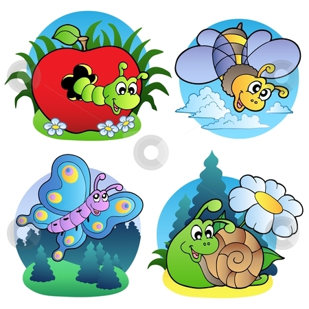 Small Cute Insects Clipart.