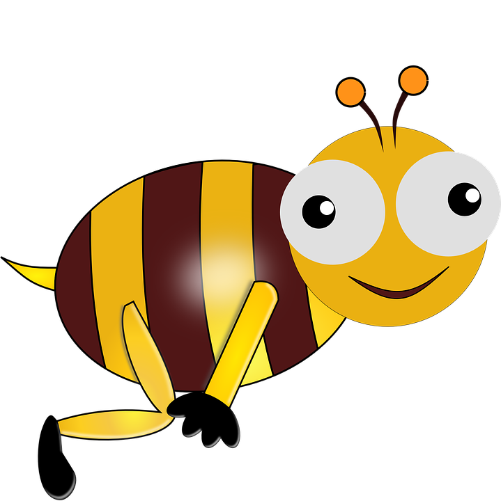 Free vector graphic: Eyes, Bee, Bug, Flying, Smiling.