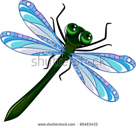 Dragonfly Cartoon Stock Images, Royalty.