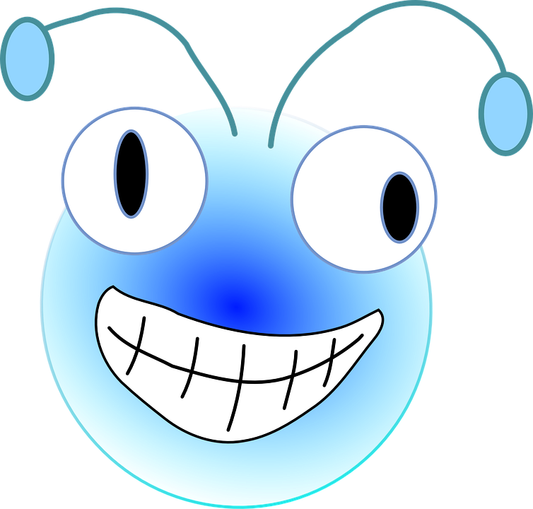 Free vector graphic: Bug, Head, Smiling, Face, Antennae.