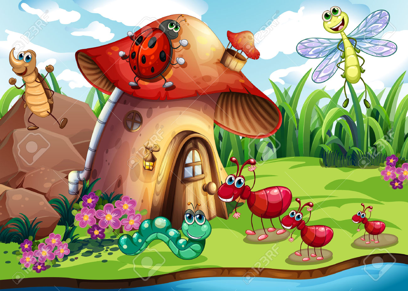 Bee House Clipart