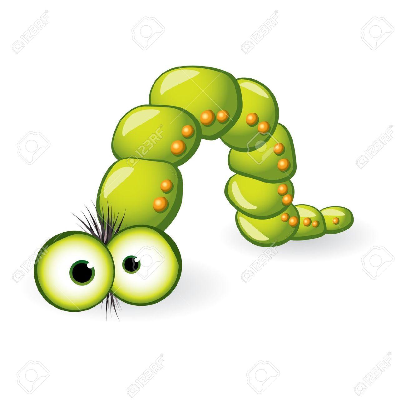 Larva Character. Illustration On White Background For Design.
