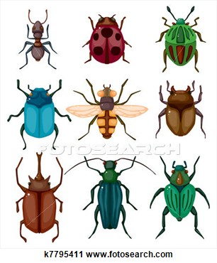 Bugging People Insects Clipart.