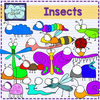 Insects and bugs clipart.