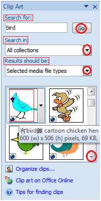 To Insert Clip Art in MS Word.