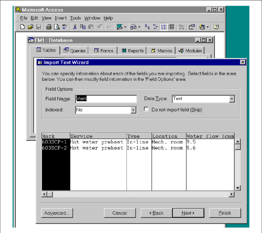 Importing data generated from AutoCAD into Access An AutoLISP.