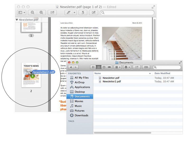 How To: Combine PDF Documents Using Apple's Preview.