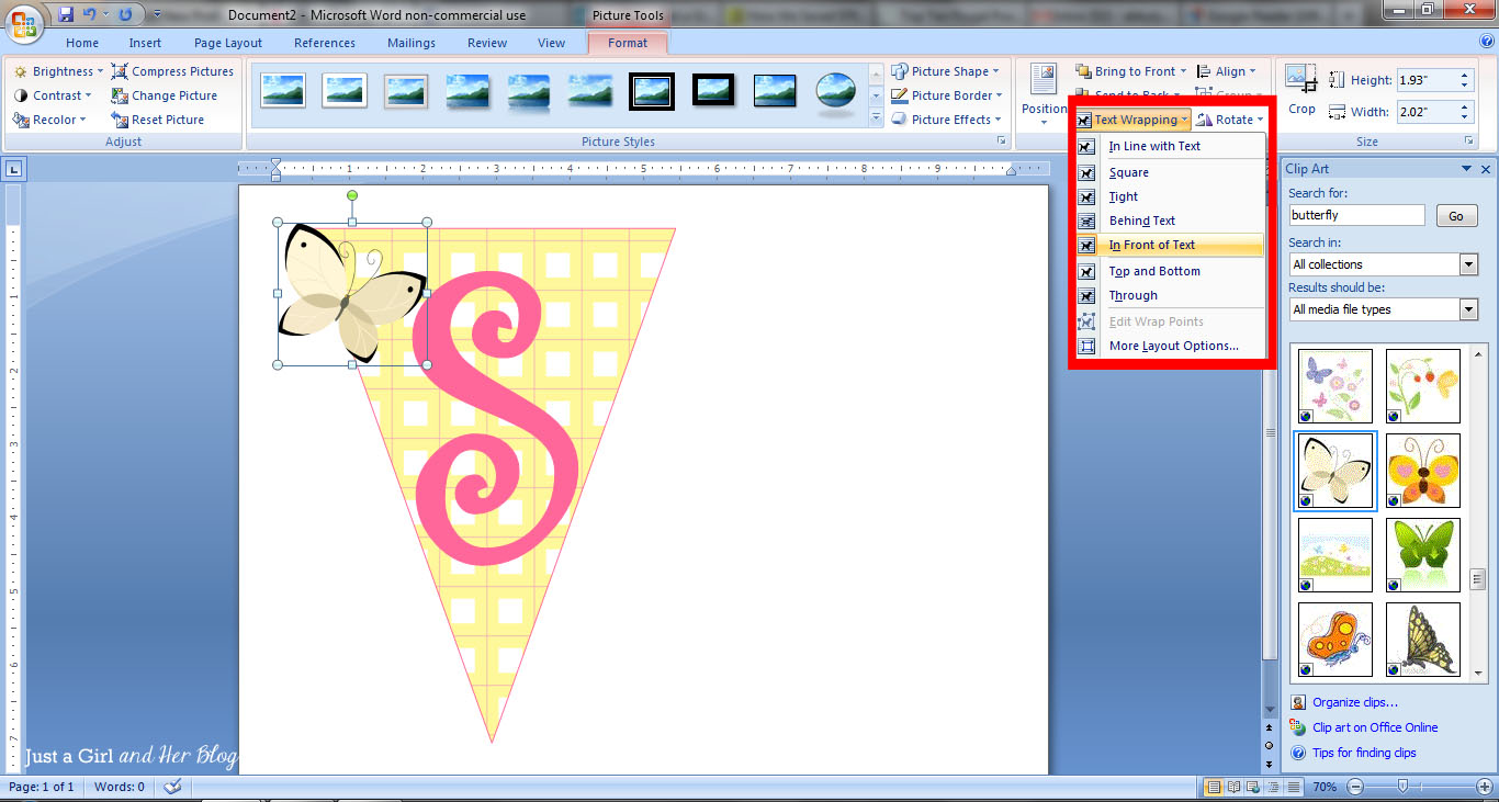 How to Make a Bunting Banner in Word {with Clip Art Tips and Tricks}.