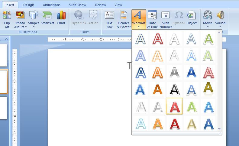 Insert WordArt Text : WordArt « WordArt Picture Clip Art Shape.