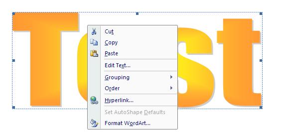 Insert WordArt Text : WordArt « Shape Picture WordArt SmartArt.
