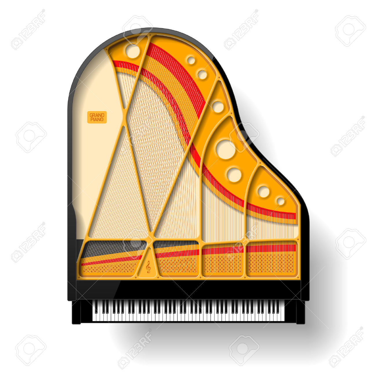 Grand Piano Interior Royalty Free Cliparts, Vectors, And Stock.