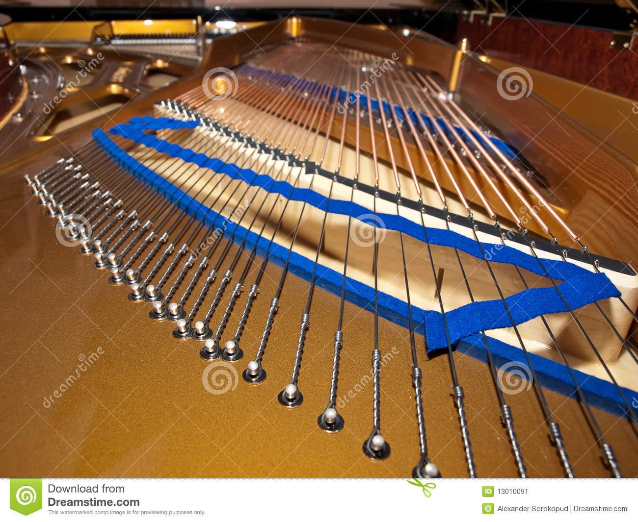 Grand Piano Inside Stock Image.