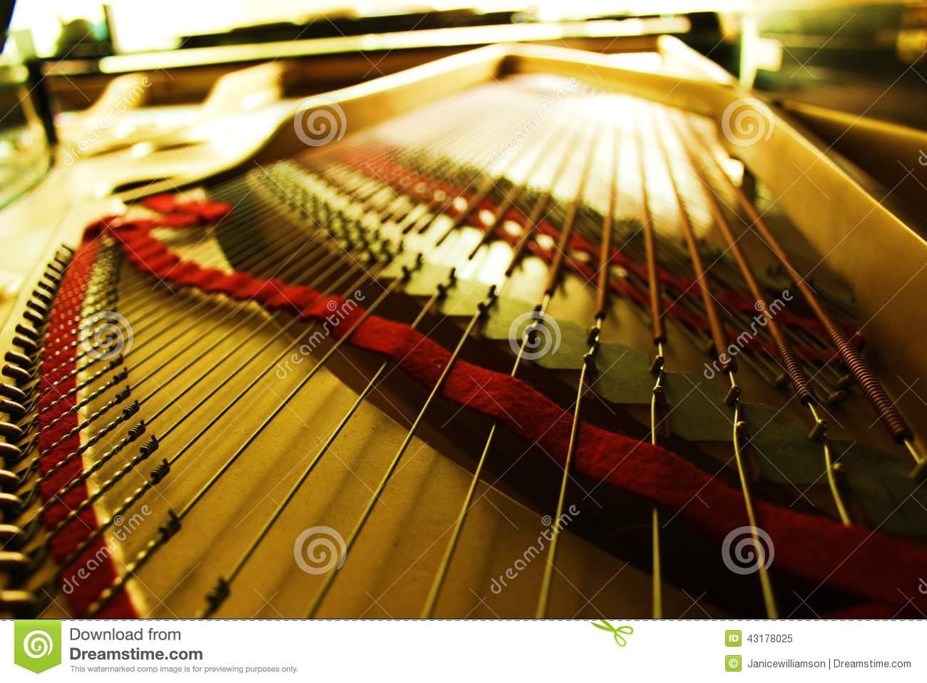 Inside Grand Piano Royalty Free Stock Photos.